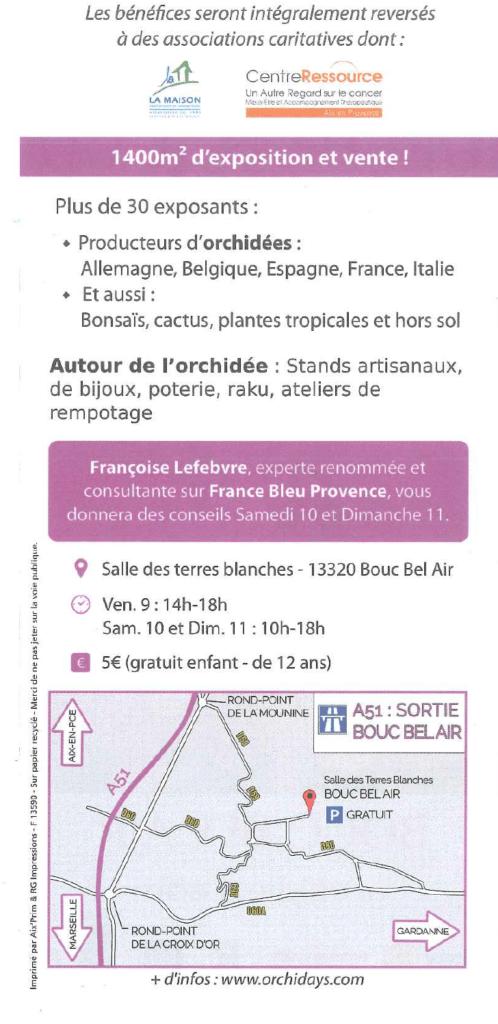 11e salon international de l orchid e co bouc bel air for Salon de l agriculture 2017 billet gratuit